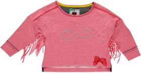 Bomba for Girls - Sweater With Fringes / Sugar Coral