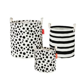 Done By Deer - Soft Storage Basket 3 Pcs / Black