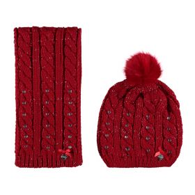 Le Chic - Hat & Scarf / Red