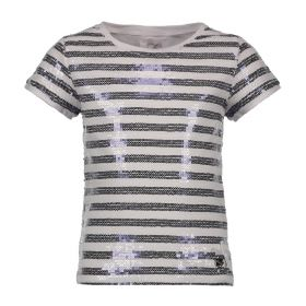 Le Chic - T-Shirt Paillet Stripe / White