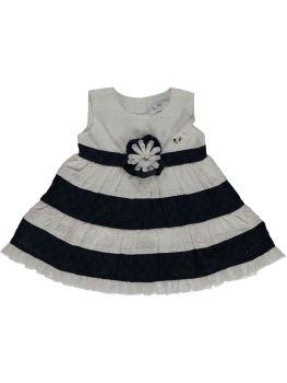 Le Chic - Dress Baby Girl Stripe / Blue Marine