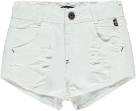 Bomba - High waist twill shorts / Fresh white