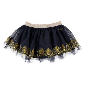 Le Chic - Skirt Gold Print / Blue Navy
