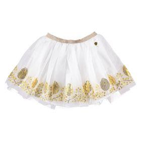 Le Chic - Skirt Gold Flower / Off White