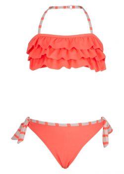 Snapper Rock - Bandeau bikini - Neon koraal