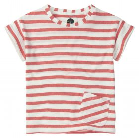 Sproet & Sprout - Shortsleeve Stripe / Off White Red