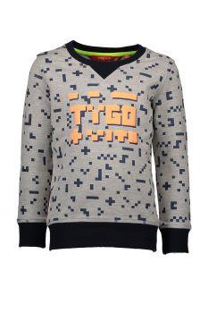 TYGO & Vito - Sweater Pixel / Grey Melange